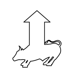 Bull economy symbol isolated icon vector