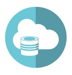 Cloud data base technology shadow vector