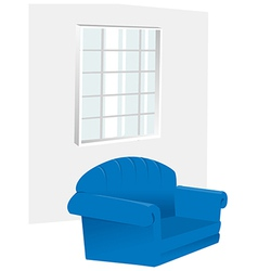 Window armchair in room vector