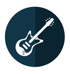 electric guitar musical instrument shadow vector image