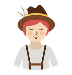 Isolated oktoberfest icon of germany culture vector