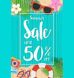 summer sale background season vacation weekend vector image