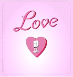 Pink Valentines background vector image