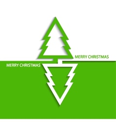 Modern christmas tree vector