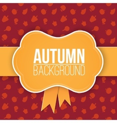 Autumn background with label vector