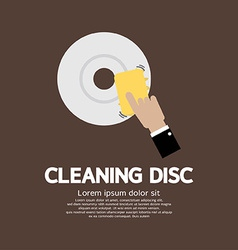 Cleaning disc graphic vector