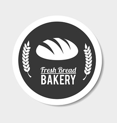 Bakery design over gray background vector