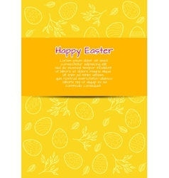 Flyer template for easter vector