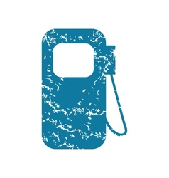 Gas station grunge icon vector