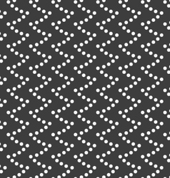 Monochrome pattern with dotted wavy spikes vector