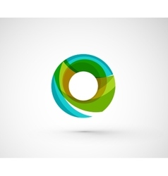 Abstract geometric company logo ring circle vector