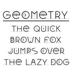 Geometric retro font vector