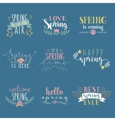 Spring art text composition vector