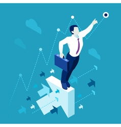 Business graph 01 people isometric vector