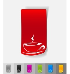 Realistic design element cup of coffee vector