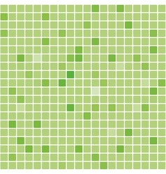 Seamless digital green square texture vector