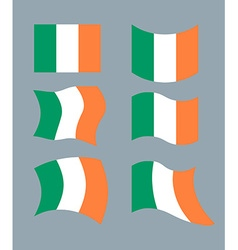 Flag of ireland set flag of irish state developing vector