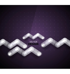 Technology zigzag glass background vector