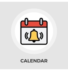Calendar with bell vector image