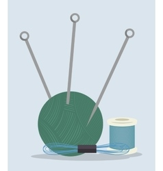 Sewing kit isolated icon design vector