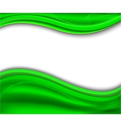 abstract green background - wave vector image vector image