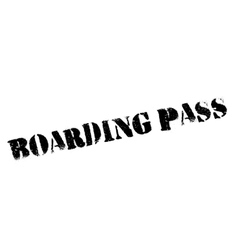 Boarding Pass rubber stamp vector image