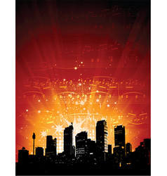 City lights - vector