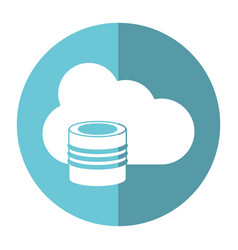Cloud data base technology shadow vector