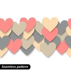 Colorful hearts seamless border vector