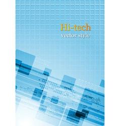 Colourful abstract hi-tech vector image vector image