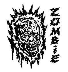 creepy demon head vector image
