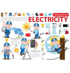 Electricity infographics energetics professional vector