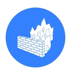 Firewall icon in outline style isolated on white vector image vector image