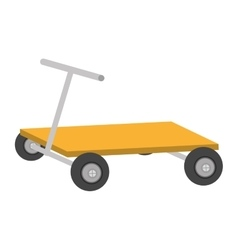 Hand pallet lift boxes delivery vector