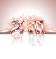 happy new year 2011 design vector image vector image