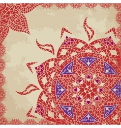 Indian grunge Ornament with sparkles and real vector image vector image