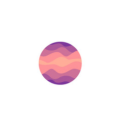 Isolated abstract pink color round shape logo on vector