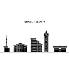 Istael tel aviv architecture city skyline vector