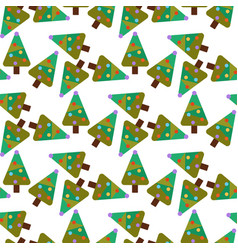 merry christmas greeting card seamless pattern vector image vector image