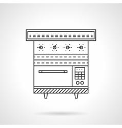 Multi oven flat line design icon vector