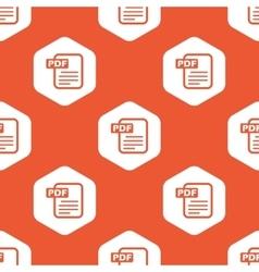 Orange hexagon pdf file pattern vector