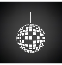 Party disco sphere icon vector