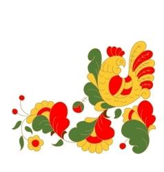 Rooster cock portrait cartoon vector