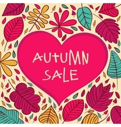 Seasonal autumn sale background with vector image vector image