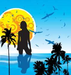 summer heat vector image vector image