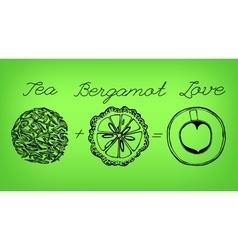 Tea time concept vector image vector image