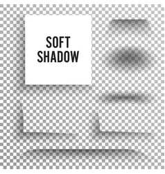transparent soft shadow set element with vector image vector image