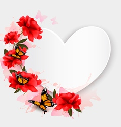 Valentines Day background Heart shaped background vector image vector image