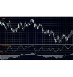 Forex stock chart vector