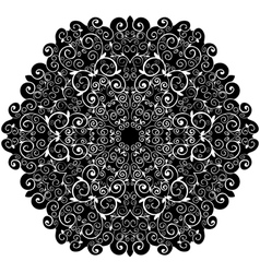 Doily pattern background with isolation on a white vector